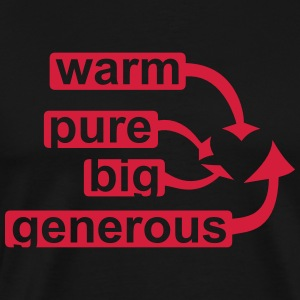 big heart Hoodies & Sweatshirts - Men's Premium T-Shirt