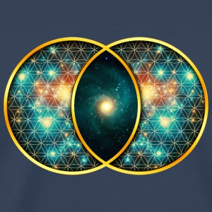 Vesica Piscis Galaxy Sacred Geometry Mathematics Long sleeve shirts - Men's Premium T-Shirt