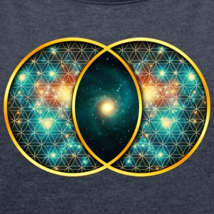 Vesica Piscis Galaxy Sacred Geometry Mathematics Hoodies & Sweatshirts - Women's T-shirt with rolled up sleeves