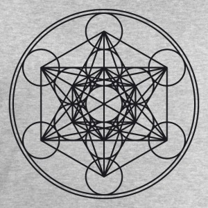Metatrons Cube Sacred Geometry Flower Life Science T-Shirts - Men's Sweatshirt by Stanley & Stella