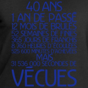 40 ans temps vecu anniversaire Tee shirts manches longues - Sweat-shirt Homme Stanley & Stella