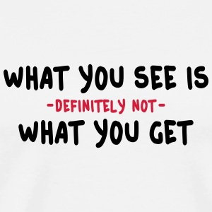 what you see is what you get - wysiwyg 2c Flasker & krus - Herre premium T-shirt