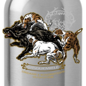 wild_boar_and_hounds T-Shirts - Water Bottle