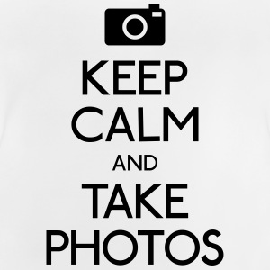 Keep Calm and take photos holde ro og ta bilder Skjorter - Baby-T-skjorte