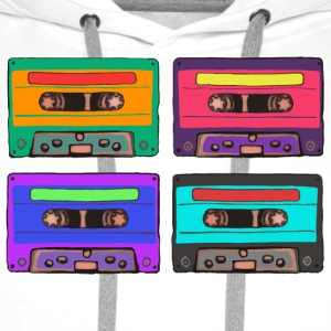 Colorful Cassettes square Bags & Backpacks - Men's Premium Hoodie
