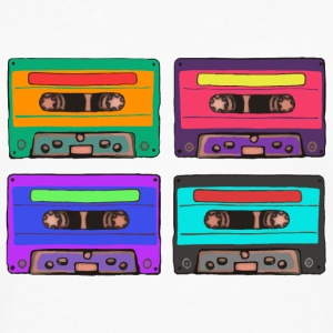 Colorful Cassettes square Bags & Backpacks - Men's Premium Longsleeve Shirt