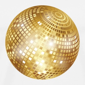 Diskokugel / Spiegelkugel Disco (Gold, PNG) Button - Männer Premium T-Shirt