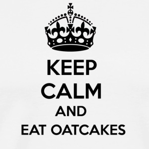 Keep Calm and Eat Oatcake  Aprons - Men's Premium T-Shirt