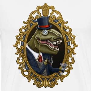 Dastardly Dinosir Long Sleeve Shirts - Men's Premium T-Shirt