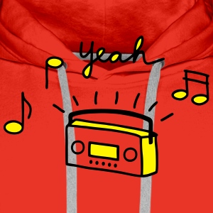 Tape radio yeah -V2 T-Shirts - Men's Premium Hoodie