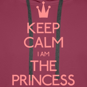 keep calm princess garder calme princesse Tee shirts - Sweat-shirt à capuche Premium pour hommes