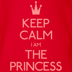 keep calm princess hålla lugn princess T-shirts - Ekologisk kortärmad babybody