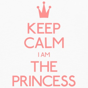 keep calm princess holde ro prinsesse Kopper & flasker - Premium langermet T-skjorte for menn