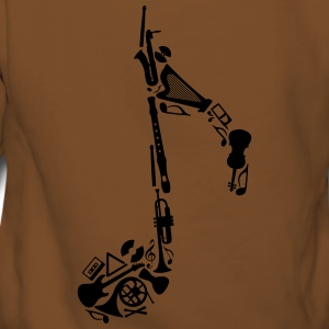 Notes of musical instruments  T-Shirts - Women's Premium Hoodie