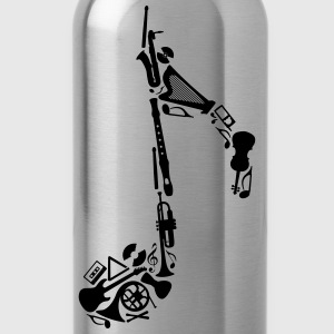 Notes of musical instruments  T-Shirts - Water Bottle