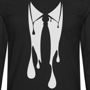 Collar with tie made ​​suit jacket bleeds  T-Shirts - Men's Premium Longsleeve Shirt