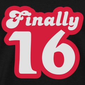 Finally 16 Langarmshirts - Männer Premium T-Shirt