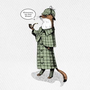 Stoat Detective - quote T-Shirts, based on the character Sherlock Holmes - Baseball Cap