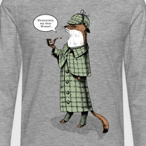 Stoat Detective - quote T-Shirts, based on the character Sherlock Holmes - Men's Premium Longsleeve Shirt