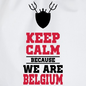 keep calm because we are Belgium Tee shirts - Sac de sport léger