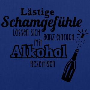 Alkohol - Spruch - Sekt - Prosecco - Party - 1C T-Shirts - Stoffbeutel