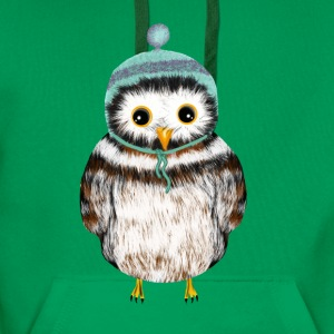 owl with hat Shirts - Men's Premium Hoodie
