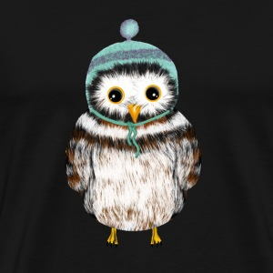 owl with hat Hoodies & Sweatshirts - Men's Premium T-Shirt