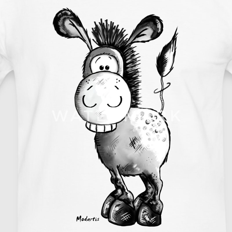 Drôle d'âne - Cheval - Animaux Tee shirts - T-shirt contraste Homme