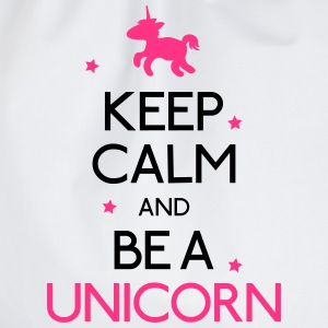 keep calm and be a unicorn mantener la calma y ser un unicornio Sudaderas - Mochila saco