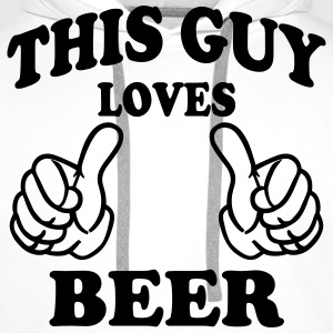 this guy loves beer T-Shirts - Men's Premium Hoodie