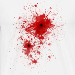 Blood spatter / bullet wound - Costume  Tee shirts manches longues - T-shirt Premium Homme