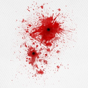Blood spatter / bullet wound - Costume  T-Shirts - Baseball Cap