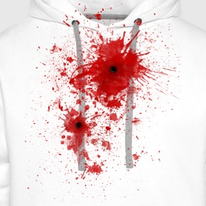 Blood spatter / bullet wound - Costume  T-Shirts - Men's Premium Hoodie