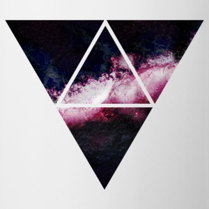 triangle galaxy driehoek galaxy T-shirts - Mok