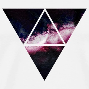 triangle galaxy driehoek galaxy Tassen & rugzakken - Mannen Premium T-shirt