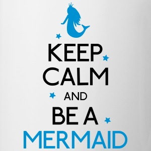 keep calm mermaid mantener calma sirena Camisetas - Taza