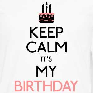 keep calm birthday T-Shirts - Men's Premium Longsleeve Shirt