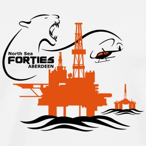 Forties Oil Rig Platform North Sea Aberdeen - Men's Premium T-Shirt