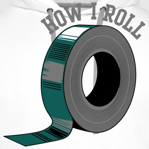 How I Roll (Duct Tape) T-Shirts - Men's Premium Hoodie