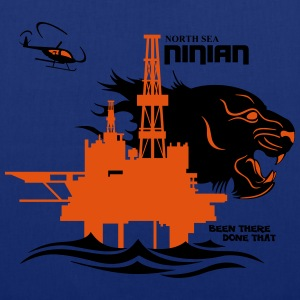 Ninian Oil Rig Platform North Sea Aberdeen. - Tote Bag
