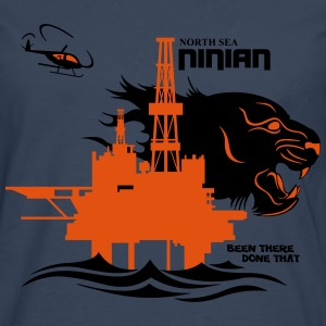 Ninian Oil Rig Platform North Sea Aberdeen. - Men's Premium Longsleeve Shirt