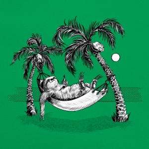 Kelly groen Sloth Shirts - Retro-tas