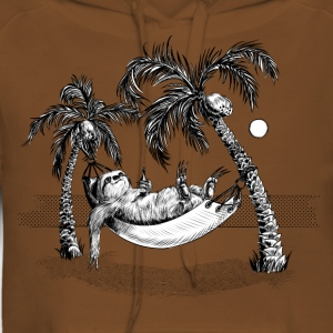 Sloth Tee shirts - Sweat-shirt à capuche Premium pour femmes