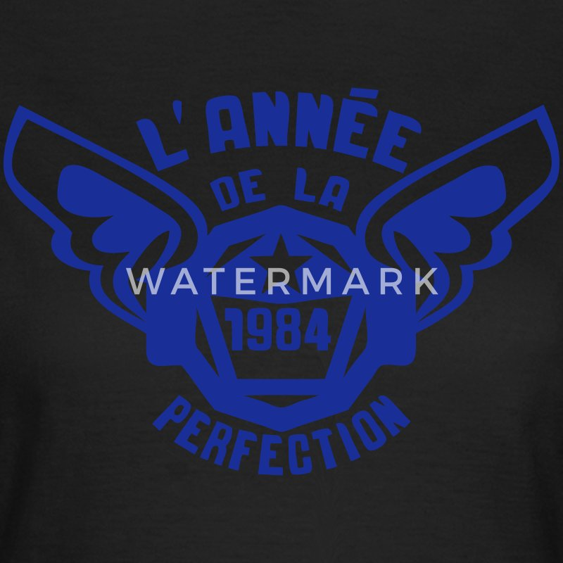 1984 annee anniversaire perfection logo Sweat-shirts - T-shirt Femme