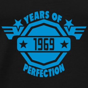 1969 years perfection logo 2 anniversair Tee shirts manches longues - T-shirt Premium Homme