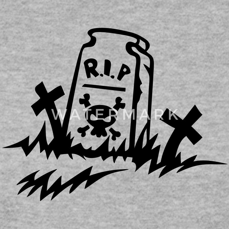 rip reste in peace tombe dessin Sweat-shirts - Sweat-shirt Homme