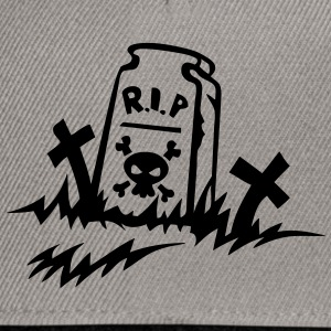 rip reste in peace tombe dessin Tee shirts - Casquette snapback