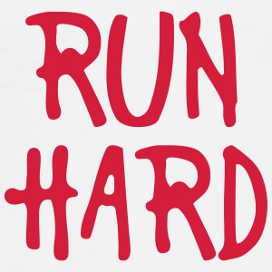 run hard Bottles & Mugs - Men's Premium T-Shirt