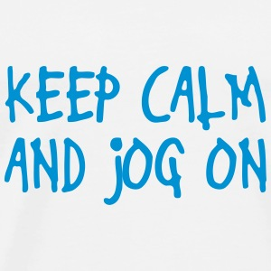 keep calm and jog on Teddies - Men's Premium T-Shirt