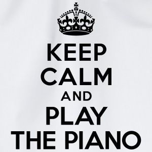 Keep calm and play the piano Bouteilles et tasses - Sac de sport léger